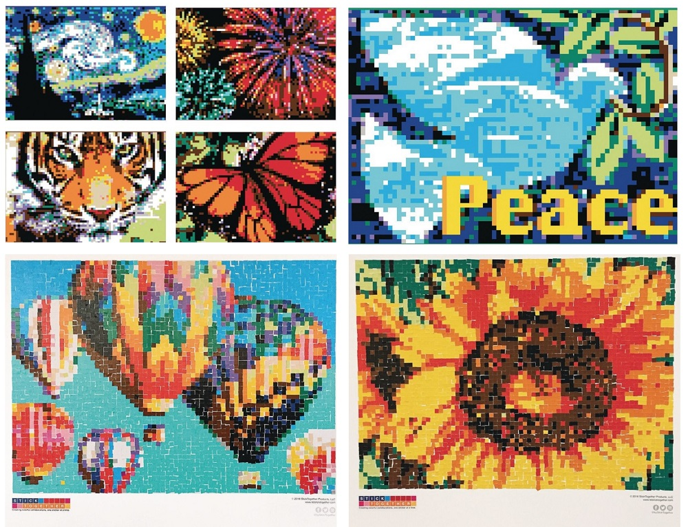 collaborative art sticker mosaic