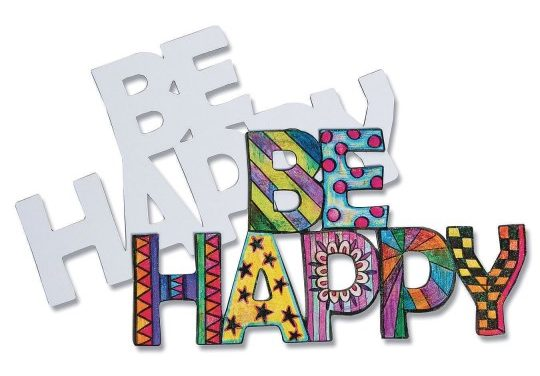 color me be happy magnet