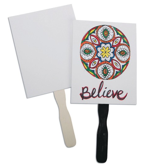 color me paddle fan inspirational