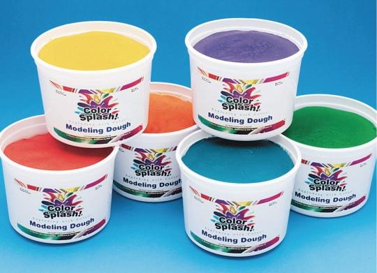 color splash modeling dough