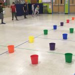 Colorful Buckets Activity – Kicking Unit for PE