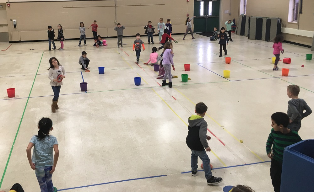 colorful PE activity