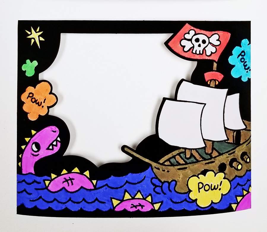 coloring craft pirate theme