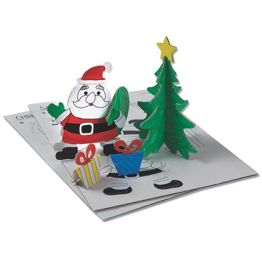 coloring santa and tree