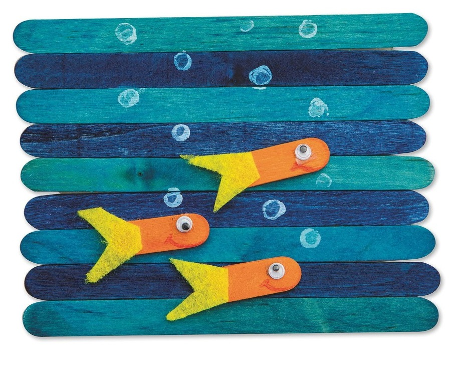 craft stick under the sea