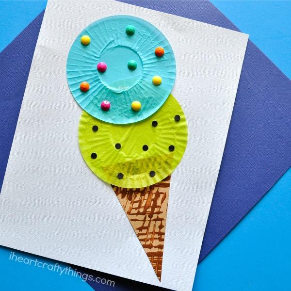 cupcake liner ice cream craft