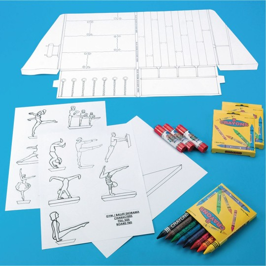 dance diorama supplies