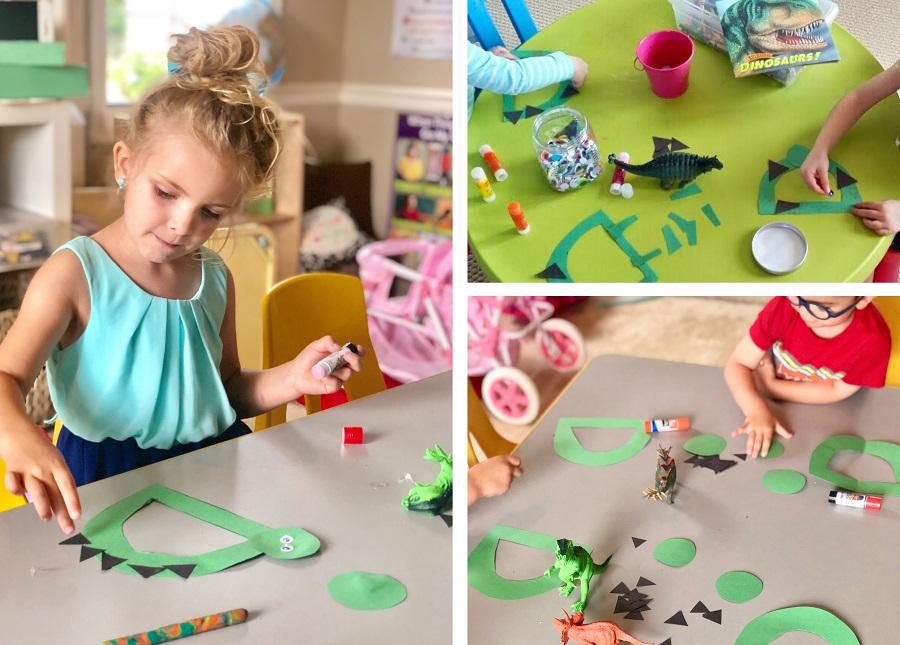 dinosaur craft literacy activity