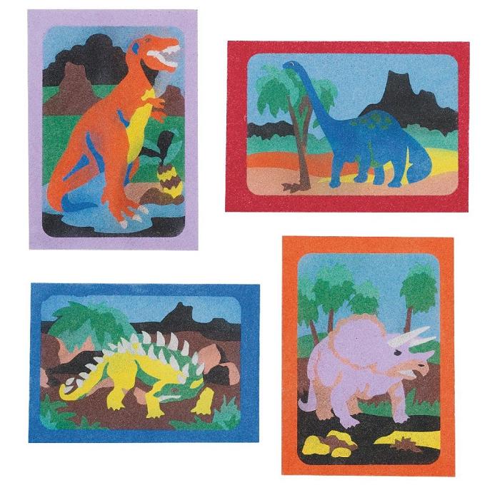 dinosaur sand art craft