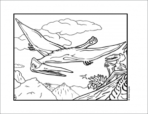dinosaur themed coloring page