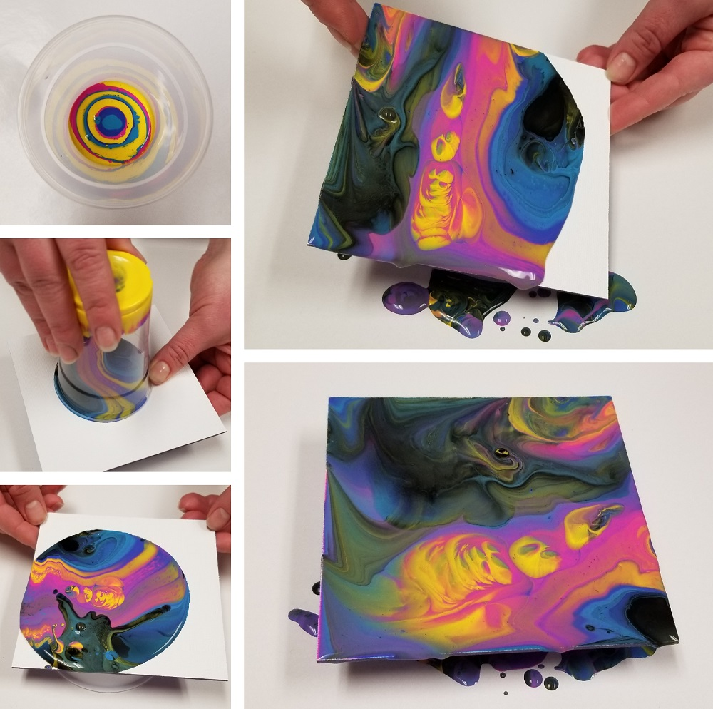 diy paint pouring craft