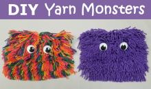 diy yarn monsters craft