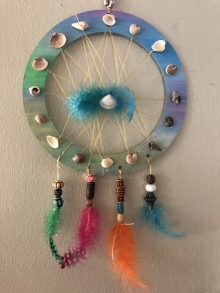wood dreamcatcher craft