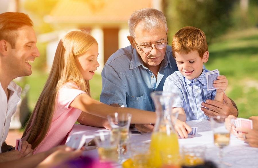 family game night senior residents