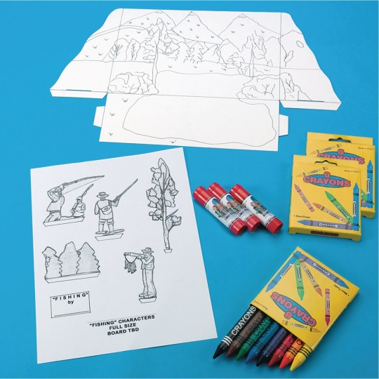 fishing diorama supplies