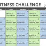January Printable Fitness Challenge Calendar