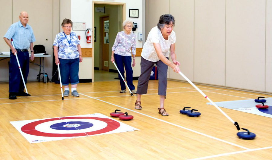 floor curling seniors