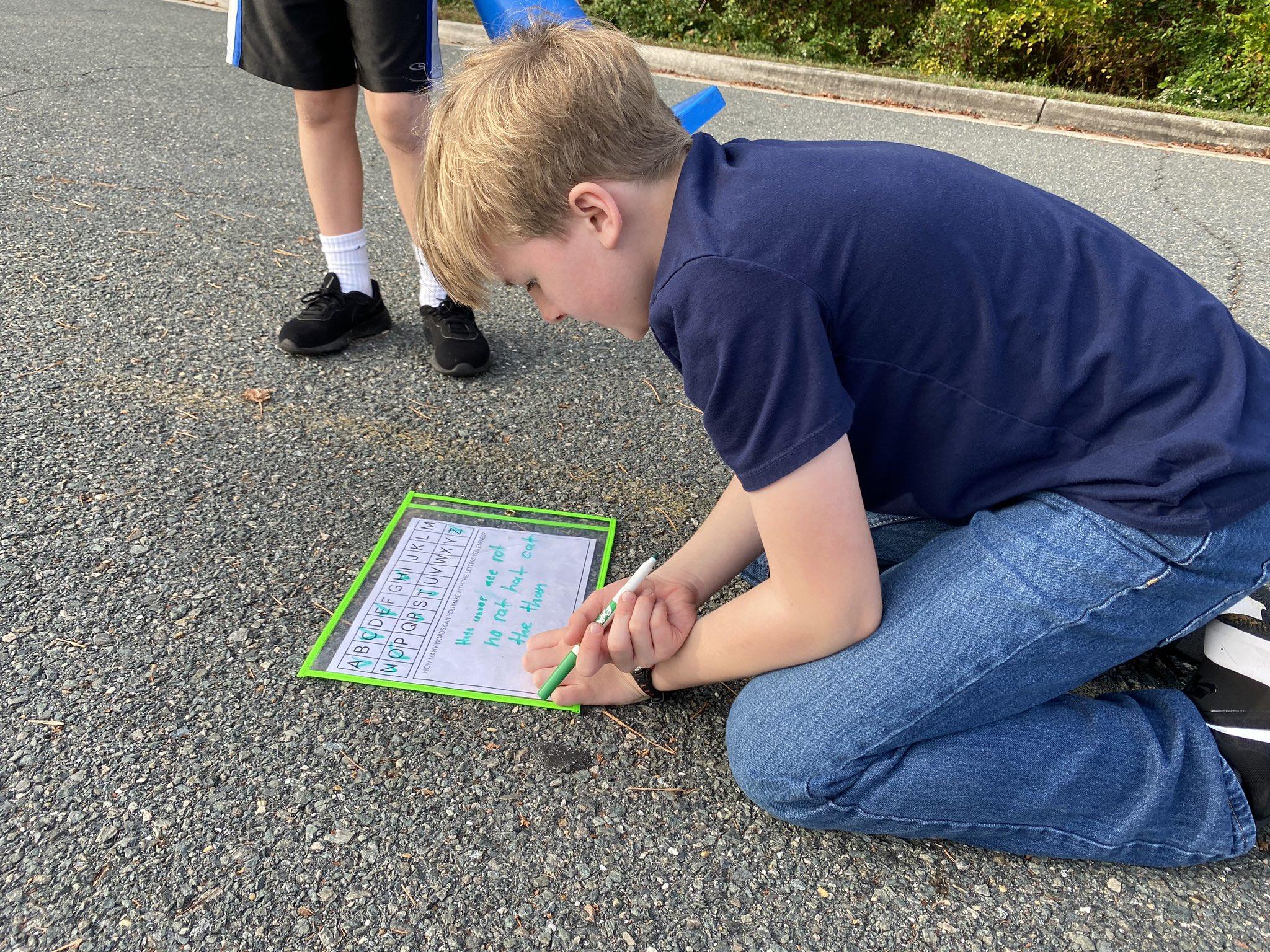 frisbee alphabet activity 2