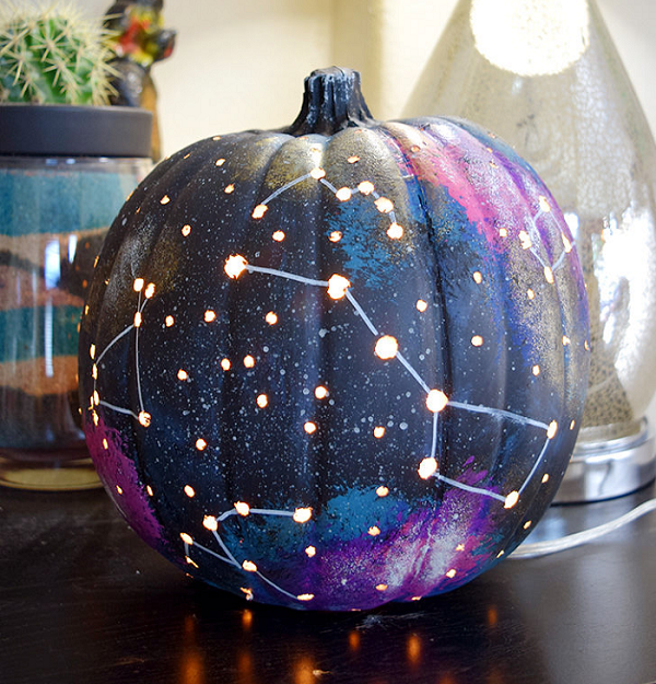 galaxy pumpkin
