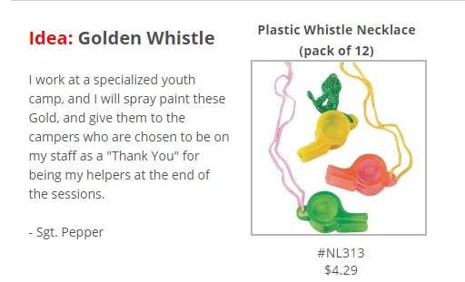 golden whistle idea