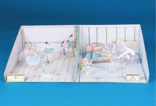 gymnastics dance diorama