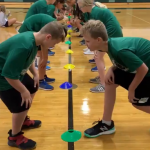 Heads, Shoulders, Knees & Cone Activity for PE