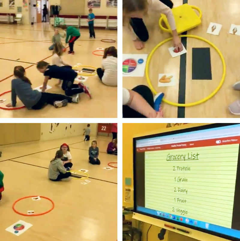 health nutrition game pe