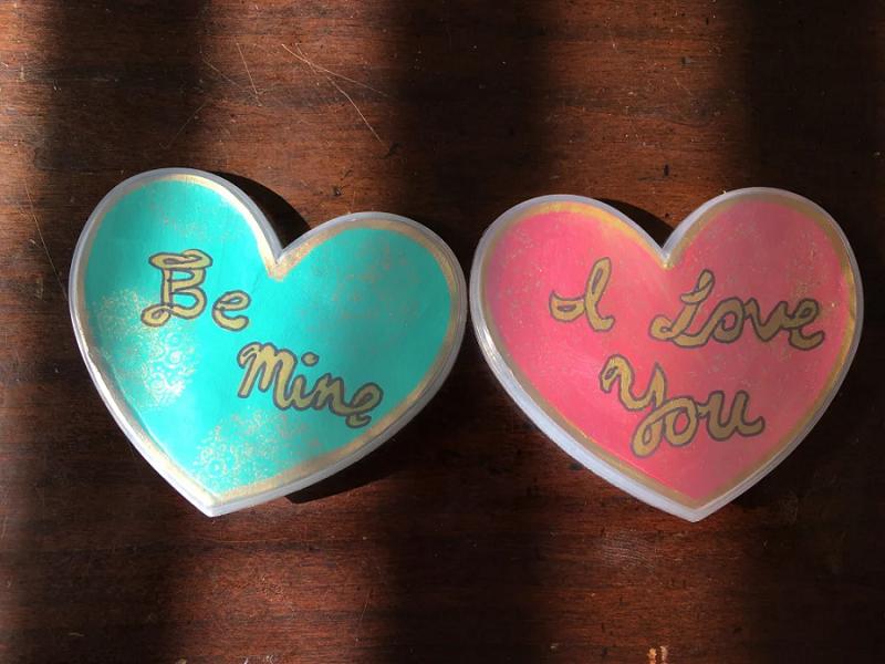 heart month pins