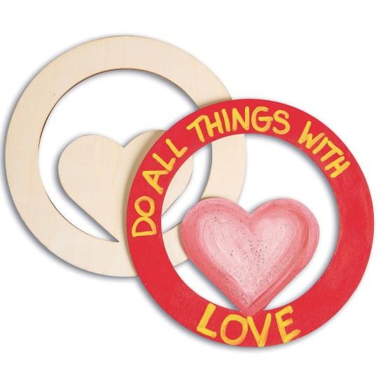 heart plaque craft