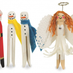 DIY Winter Holiday Themed Doll Pin Crafts