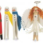 DIY Winter Holiday Themed Doll Pin Crafts
