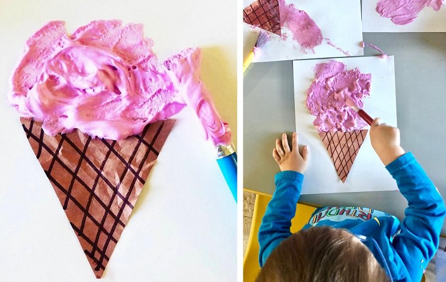 ice cream crafts toddlers