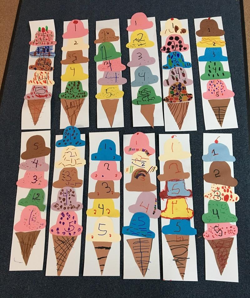 ice cream math craft