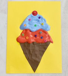 ice cream scoops puffy paint