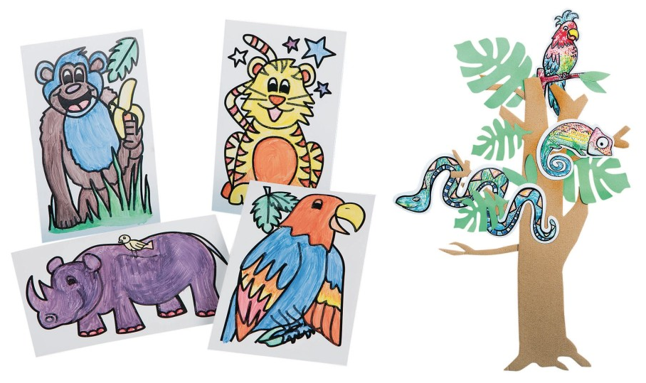 jungle safari themed crafts