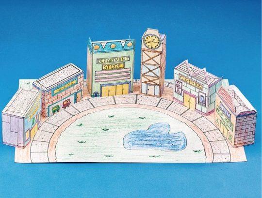 mall city scape diorama