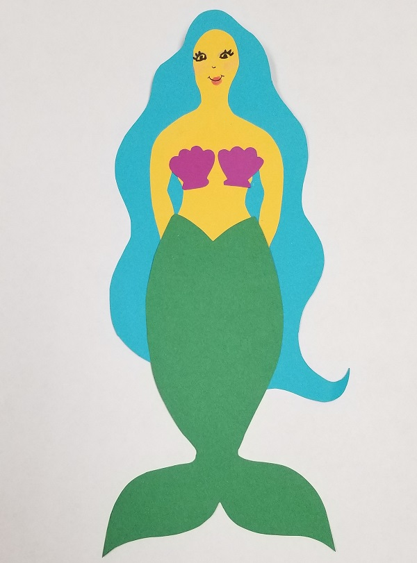 mermaid diy paper craft