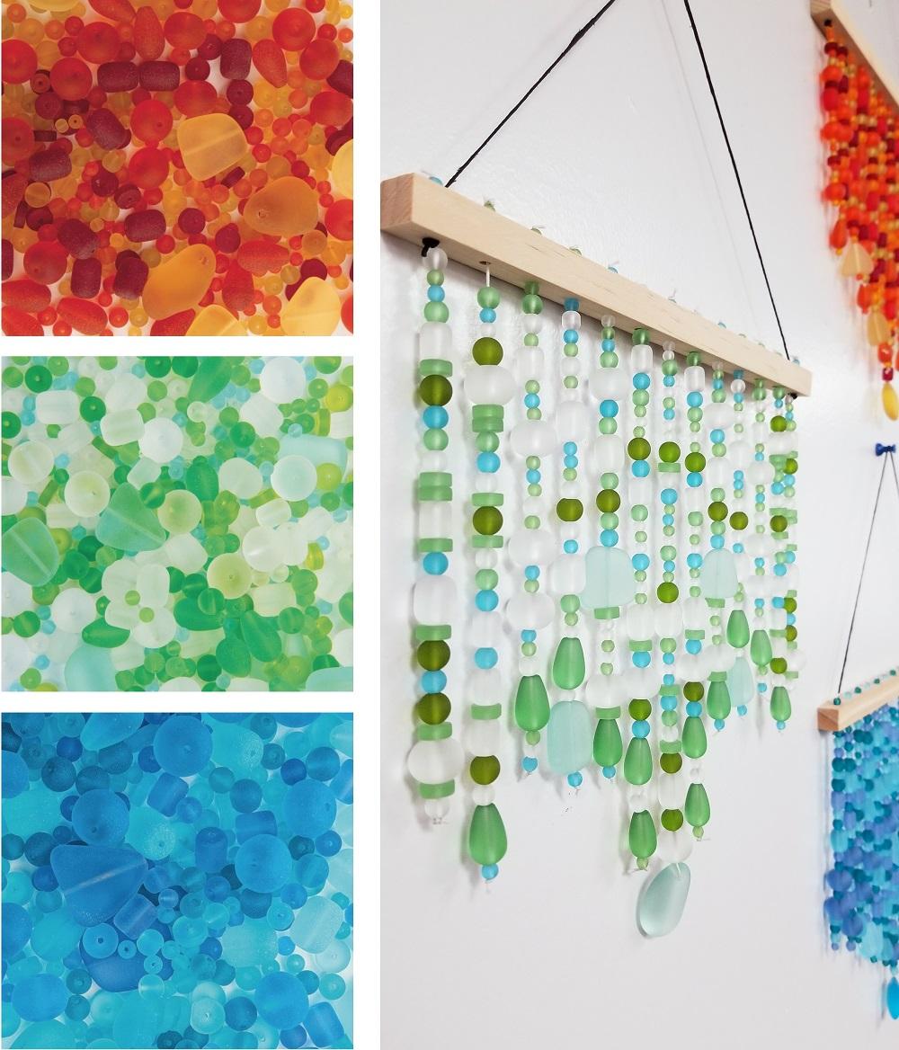 mermaid tear glass hanging craft activity