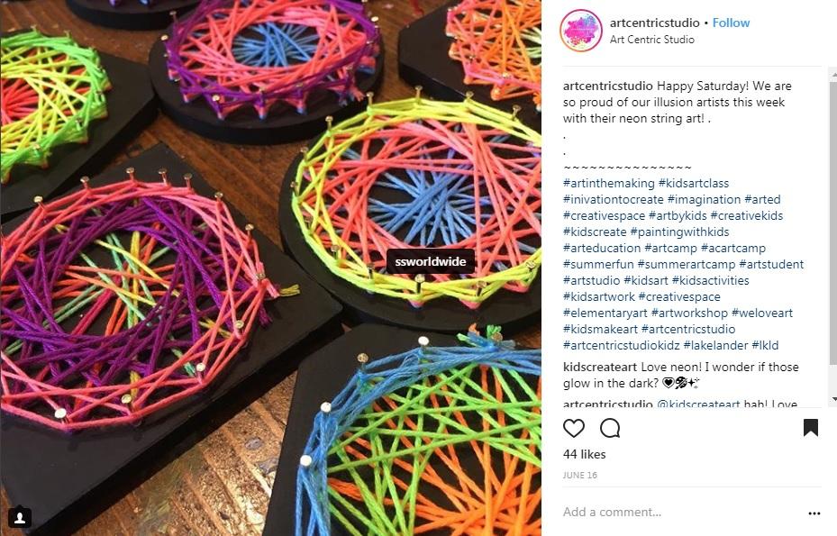 art centric studio spiral art craft