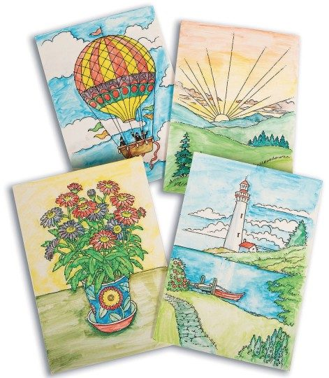 paint a dot greeting cards