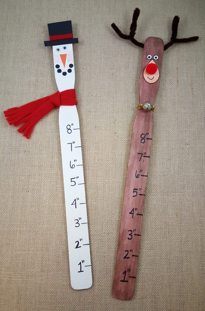 winter paint stick craft