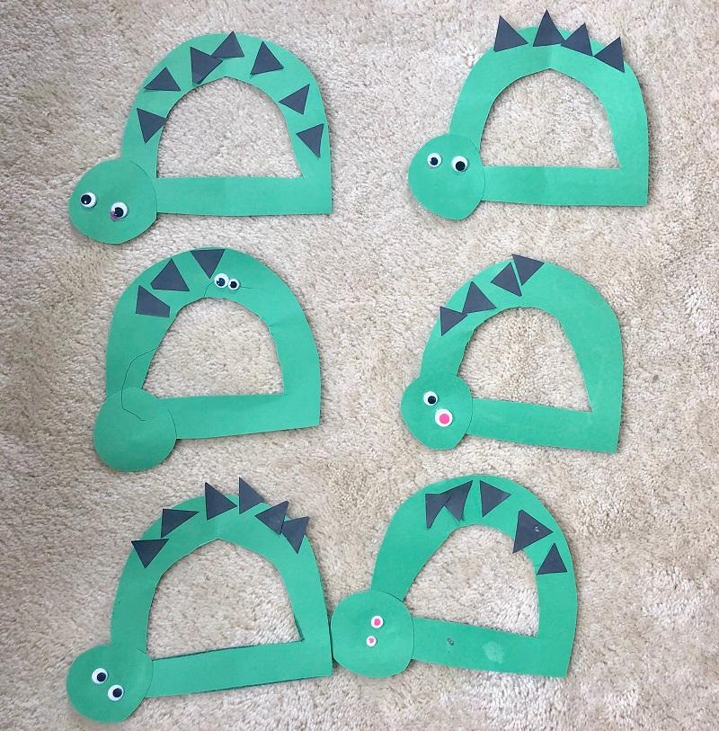 paper dinosaur alphabet craft