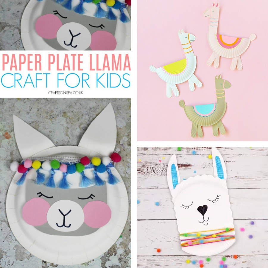 paper plate llama crafts for kids