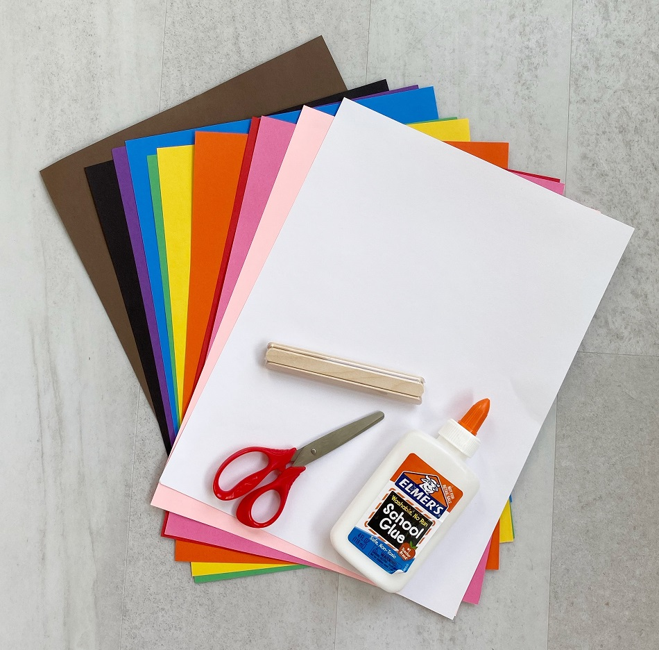 paper popsicle supplies