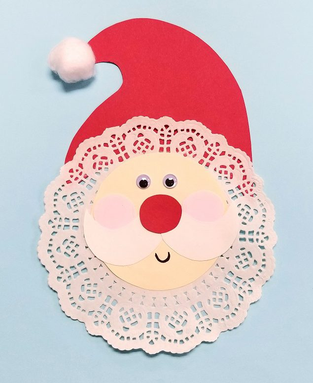 paper santa craft activity
