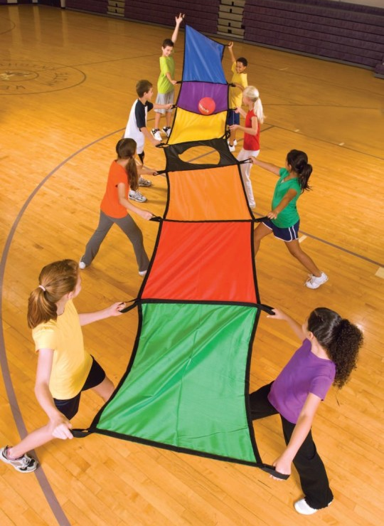 parachute activity physed