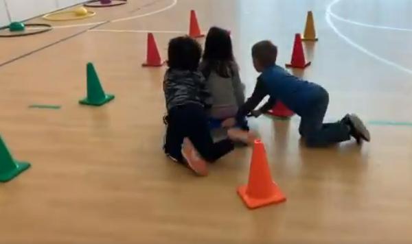 partner pull cones pe lesson