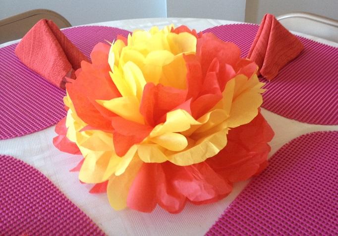 tissue paper flower craft tutorial