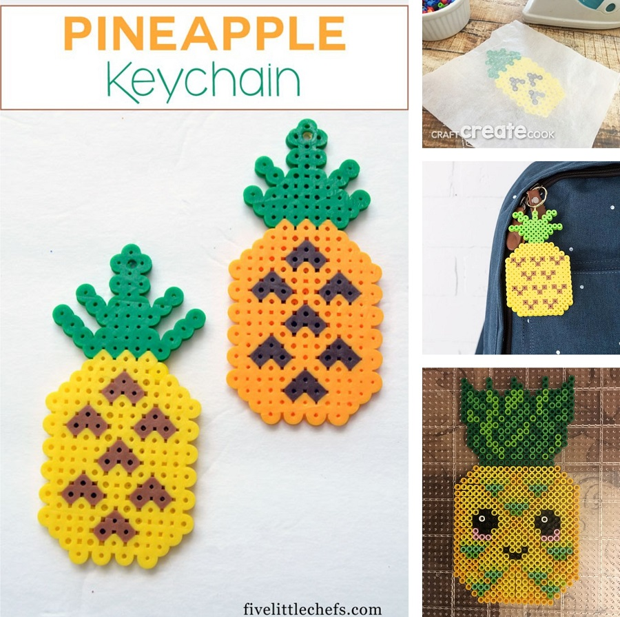 pineapple fuse bead crafts