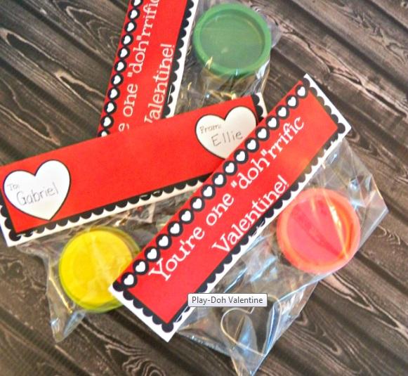 play-doh valentine ideas bag
